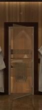 """Дверь для саун """"Восточная арка"""" бронза"""