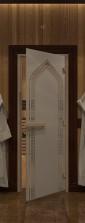 """Дверь для саун """"Восточная арка"""" сатин"""