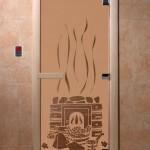 "Дверь для саун ""Банька"" бронза матовая"