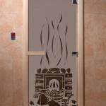 """Дверь для саун """"Банька"""" черный жемчуг матовая"""