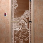 "Двери для саун ""Банька в лесу"" бронза"