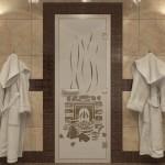 """Дверь для Хамама """"Банька"""" бронза матовая"""