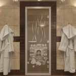 "Дверь для Хамама ""Банька"" бронза"