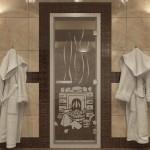 """Дверь для Хамама """"Банька"""" прозрачная"""