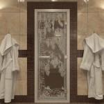 "Двери для Хамама ""Березка"" прозрачная"
