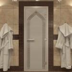"Дверь для Хамама ""Арка"" сатин"