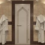 """Дверь для Хамама """"Арка"""" бронза матовая"""
