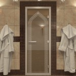 "Дверь для Хамама ""Арка"" бронза"
