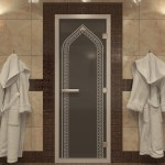 "Дверь для Хамама ""Арка"" черный жемчуг"