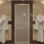 """Дверь для Хамама """"Мираж"""" бронза"""