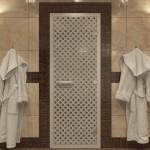 """Дверь для Хамама """"Мираж"""" сатин"""