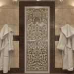 "Дверь для Хамама ""Флоренция"" бронза матовая"