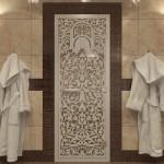 "Дверь для Хамама ""Флоренция"" бронза"