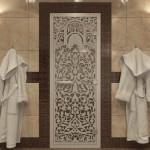 "Дверь для Хамама ""Флоренция"" прозрачная"