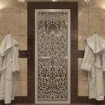 "Дверь для Хамама ""Флоренция"" сатин"