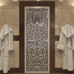 """Дверь для Хамама """"Флоренция"""" синий жемчуг матовая"""