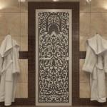 """Дверь для Хамама """"Флоренция"""" черный жемчуг матовая"""