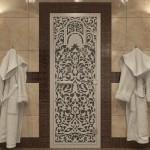 """Дверь для Хамама """"Флоренция"""" черный жемчуг"""