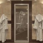 """Дверь для Хамама """"Дженифер"""" прозрачная"""
