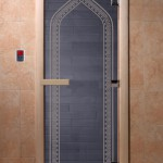 "Двери для саун ""Арка"" синий жемчуг"