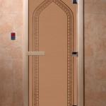 "Двери для саун ""Арка"" бронза матовая"