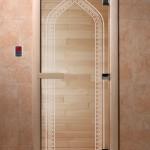 "Двери для саун ""Арка"" прозрачная"