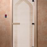 """Двери для саун """"Арка"""" сатин"""