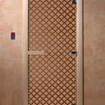 """Дверь для саун """"Мираж"""" бронза матовая"""
