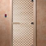 """Дверь для саун """"Мираж"""" прозрачная"""