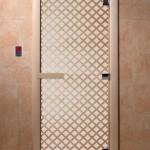 """Дверь для саун """"Мираж"""" сатин"""