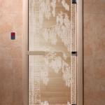 """Дверь для саун """"Березка"""" прозрачная"""