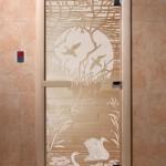 """Дверь для саун """"Лебединое озеро"""" прозрачное"""