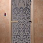"Двери для саун ""Флоренция"" синий жемчуг"