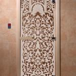 "Двери для саун ""Флоренция"" бронза"