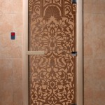"""Двери для саун """"Флоренция"""" бронза матовая"""
