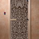 """Двери для саун """"Флоренция"""" черный жемчуг"""