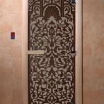 """Двери для саун """"Флоренция"""" черный жемчуг матовая"""