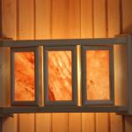 Абажур угловой с  гималайской  солью с  3 плитками № 1 АУ-3П1