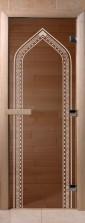 """Дверь для саун """"Арка"""" спецпредложение бронза"""