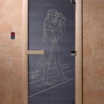 """Дверь для саун """"Дженифер"""" синий жемчуг"""