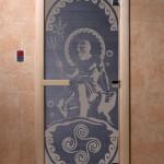"Дверь для саун ""Посейдон"" синий жемчуг"