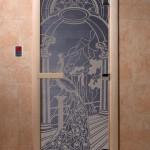 """Дверь для саун """"Жар-птица"""" синий жемчуг"""