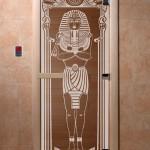 """Дверь для саун """"Египет"""" бронза"""