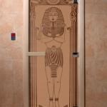 """Дверь для саун """"Египет"""" бронза матовая"""