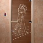 """Дверь для саун """"Дженифер"""" бронза"""