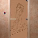 """Дверь для саун """"Дженифер"""" бронза матовая"""