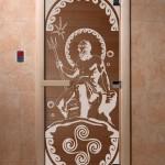 "Дверь для саун ""Посейдон"" бронза"