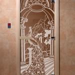 """Дверь для саун """"Жар-птица"""" бронза"""