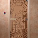 "Дверь для саун ""Жар-птица"" бронза матовая"