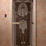 """Дверь для саун """"Египет"""" черный жемчуг"""